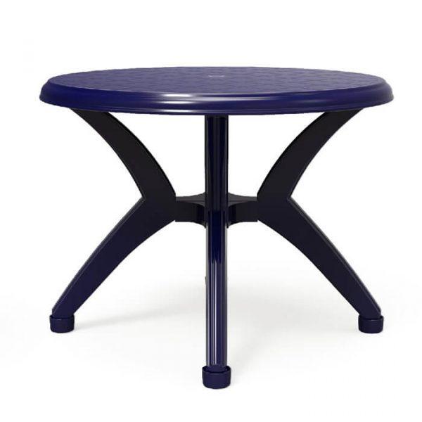 שולחן עגול אריאל כחול