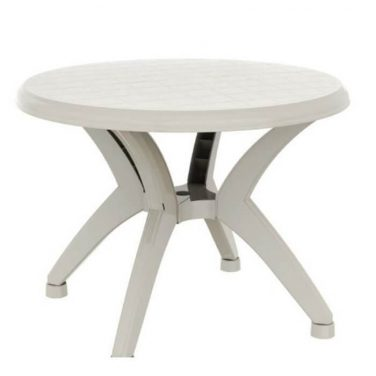 שולחן עגול אריאל לבן
