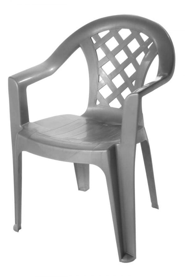 כיסא מונובלוק נעם אפור עכבר